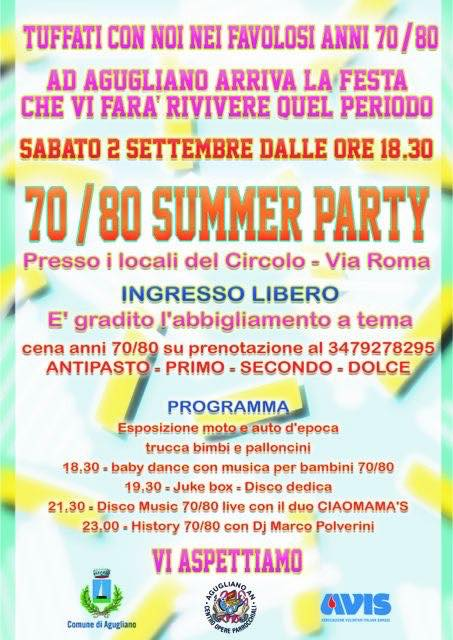 70/80 SUMMER PARTY
