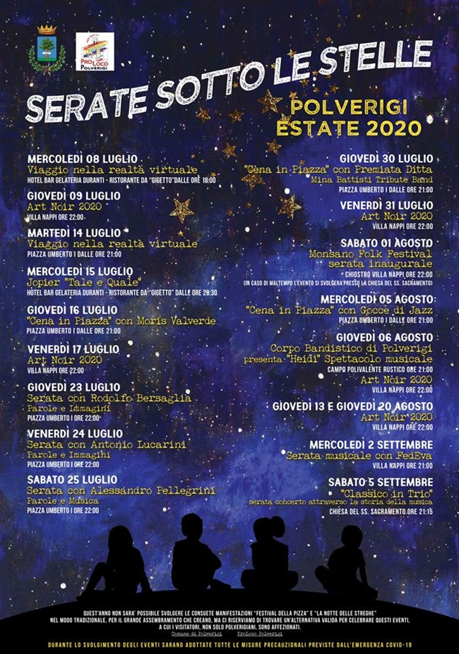 Serate sotto le Stelle 2020