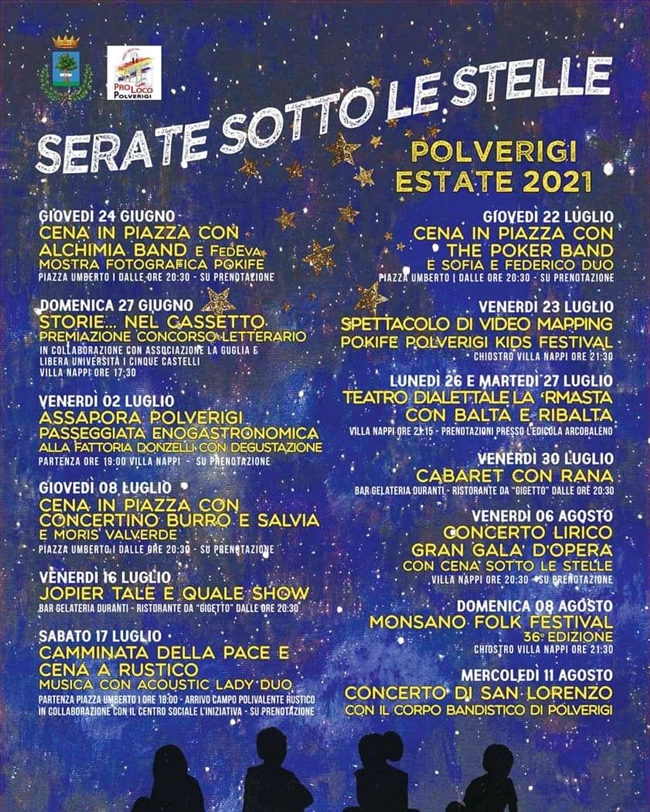 Serate sotto le Stelle 2021